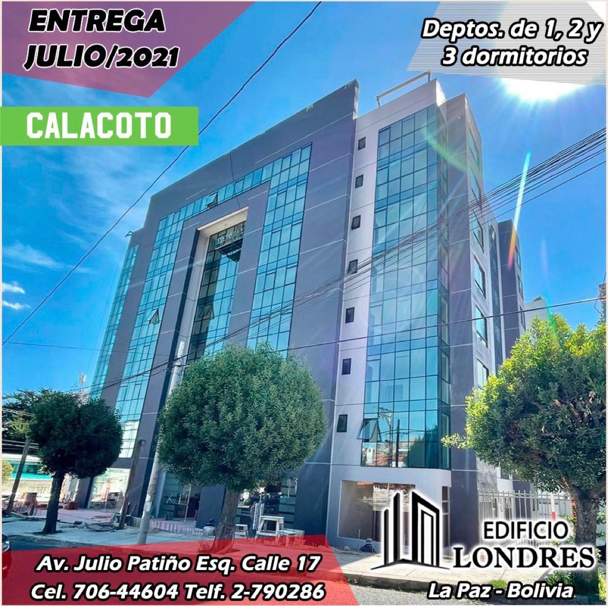 Departamento en Venta Edificio Londres Calle 17 de Calacoto y Esquina Julio Patiño #8083 Foto 3